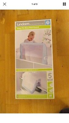 Lindam Easy Fit Bed Guard Child Safety Gate Blue Secure Locking Ages 18m+ *NEW*