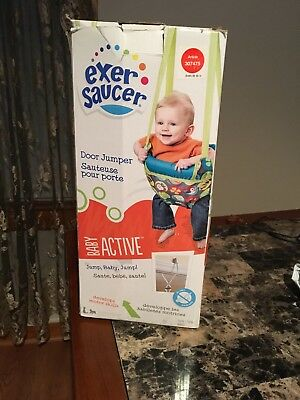 Evenflo ExerSaucer Door Jumper Bumbly Doorway Baby Bouncer Jump Swing Adjustable