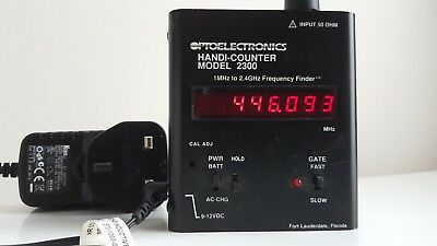 OPTOELECTRONICS FREQUENCY COUNTER - HANDI-COUNTER MODEL 2300 -1MHz - 2.4GHz