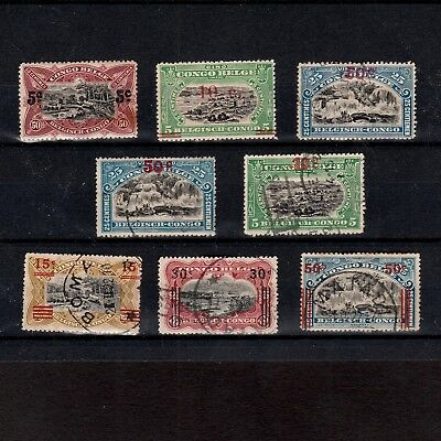 Belgian Congo 1921 /1922 Surcharges Including Postage Due (Taxes)