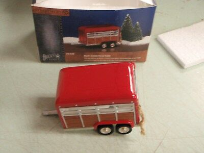 Dept 56 Snow Village Buck's County Horse Trailer 55286 56.55286 MINT IN BOX SALE