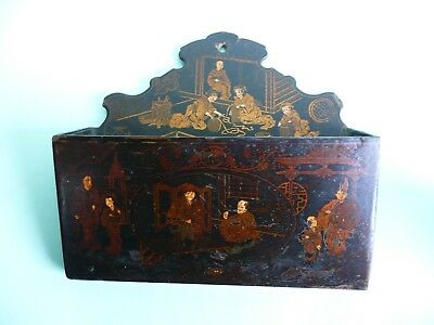 Antique Chinese Lacquered Stationery Letter Rack.........................ref.677