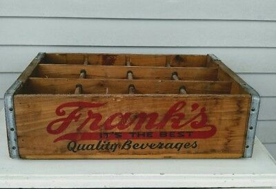 """Vintage Frank's Quality Beverages Wood Soda Crate """"Its the Best"""" Phila, PA."""