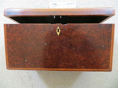Vintage Wooden Box - Possibly Tea Caddy / Box With Domed Lid