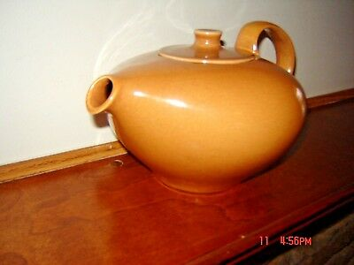 MINT Russel Wright Iroquois Casual Redesigned Tea Pot and Lid ~Ripe Apricot?