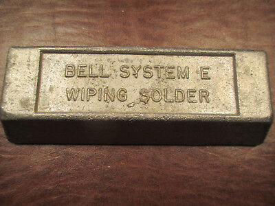 Bell System E Wiping Solder New 5 Lb Lead Bar