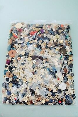 Antique Vintage Modern Button Lot Old Buttons Mixed Materials 3.14 Pounds