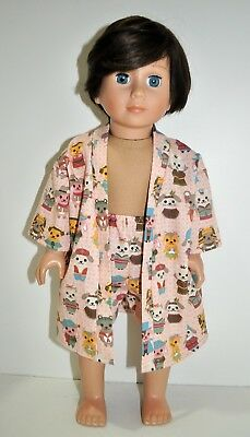 """American Girl Dolls Our Generation Journey Gotz 18"""" Boy Doll Clothes Robe Boxers"""