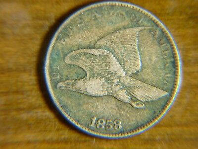 1858 1C Flying Eagle Cent - Large Letters - KEY DATE!