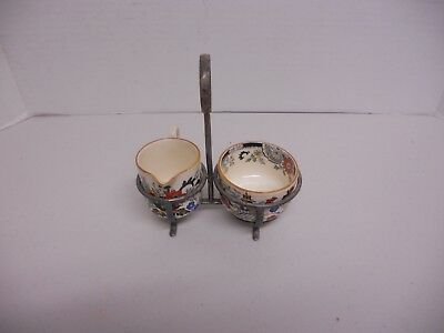 Vintage COALPORT  KINGS WARE/Canton Creamer and Sugar with Holder
