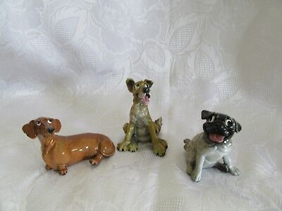 Lot of 3 Kitty's Kennel Figurine Dogs ~ Porkchop ~ Ginger ~ Gypsy ~