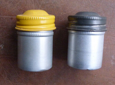 Vintage Lot Of 2 Metal KODAK Film Canisters and 2 reloadable cassettes EMPTY