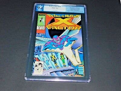 X-Factor #24 PGX 9.4 White Pages 1st Appearance of Archangel Newsstand LIKE CGC