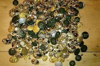 LOT boutons militaires anglais us allemand buttons British German