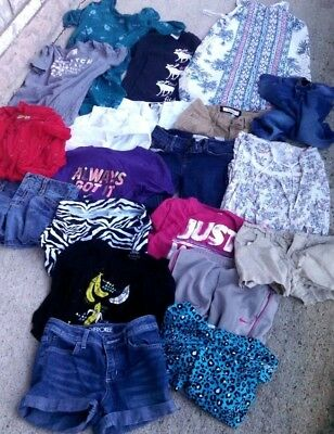19-piece Lot of spring/summer Girls' Clothes Size 10-12 JUSTICE ABERCROMBIE NIKE