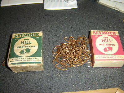 Vintage Seymour Hill Pattern Pig Rings H1 and Hog Rings H3 in original boxes