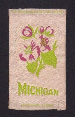 1910's S89 Egyptienne Luxury Tobacco Silk - State Flowers Series - Michigan