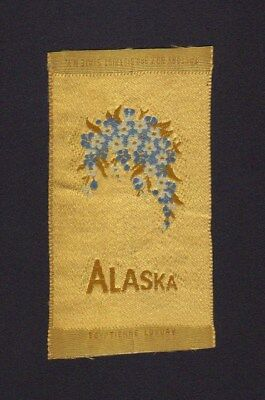 1910's S89 Egyptienne Luxury Tobacco Silk - State Flowers Series - Alaska