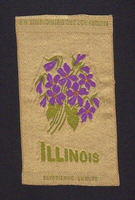 1910's S89 Egyptienne Luxury Tobacco Silk - State Flowers Series - Illinois