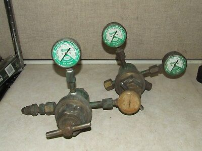 Linde Products Company Oxweld Type Oxygen Regulator Lot of 2