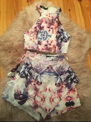 Paper Heart Crop Top and Shorts Set
