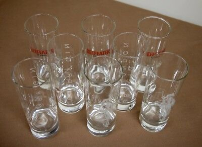 """A lot of eight (8) Beefeater & London Dry Gin Glasses, each 6-1/2"""" tall"""