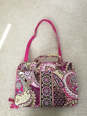 "Vera Bradley 17"" Laptop Computer Bag Hard Shell Case - Very Berry Paisley"