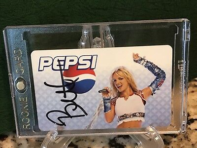 Britney Spears Autographed Pepsi Playcard JSA Authentication Auto Signed💥
