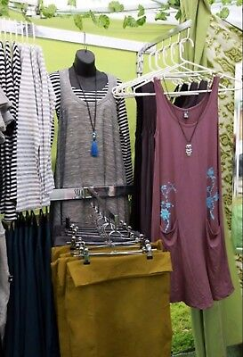 3 X Free Standing Clothing Rack For Market Or Shop Display