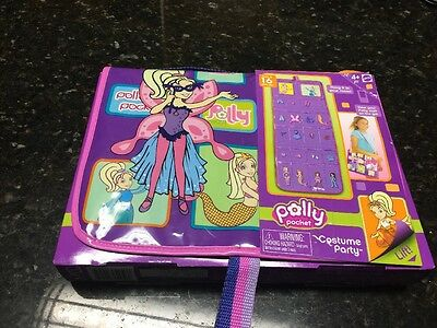 Vtg  LOT FASHION POLLY POCKET Costume Party  WORLD HIP STYLE On the Go Bag