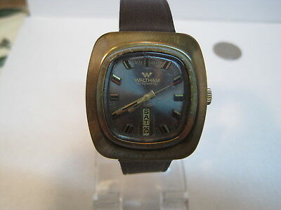 Vintage Waltham Swiss Made 25 Jewel Automatic Mens Watch with Day/Date
