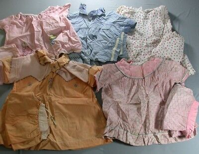 5 Vintage Girl's Home Made Dress Top & Bloomer Outfit Sets