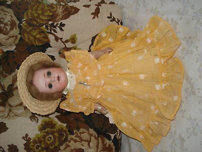 Antique bisque head doll by Moa Walsh,Germany26cm 5 piece baby body dressreduced