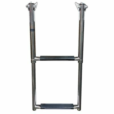 2-Step Stainless Steel Telescopic Folding Ladder - Five Oceans (BC 3525)
