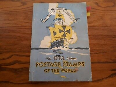 Old Eta Stamp Album:  World Collection- 1150 Used Stamps.