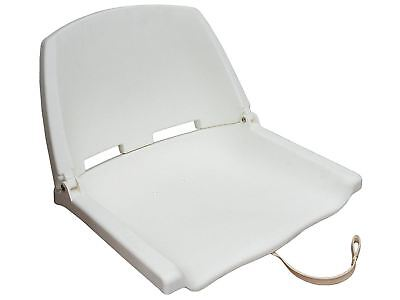 White Deluxe Fold Down Marine Seat for Fishing & Other Boats - Five Oceans (BC 2