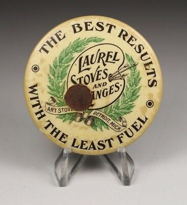 Laurel Stoves And Ranges Detroit Michigan Advertising Celluloid Pocket Mirror