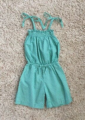 Little English Girls Summer Romper One Piece Outfit. Size 6x