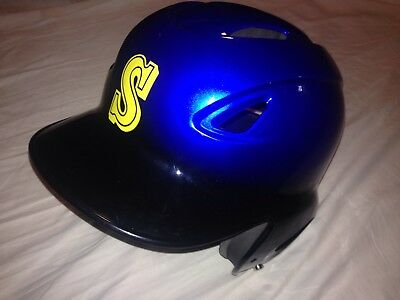 MVP Adjustable Baseball Softball Batting Helmet Royal Blue Black Size 56-60cm