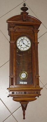 "Antique PENDULUM WALL CLOCK Walnut timber,  in style of ""French Vienna"" c 1920's"