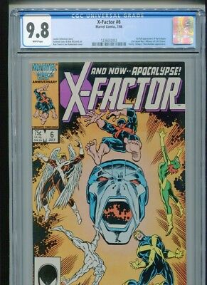 X-Factor #6 (1986) CGC 9.8 WHITE pages (1st full Apocalypse!)