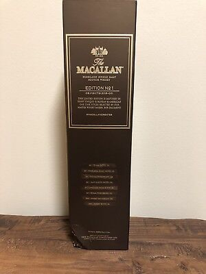 Macallan Edition 1 Limited Discontinued Rare