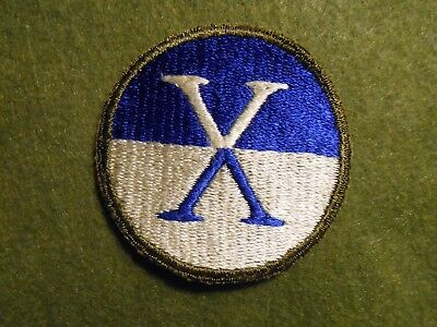 WW2 Variation 10th Corps Patch