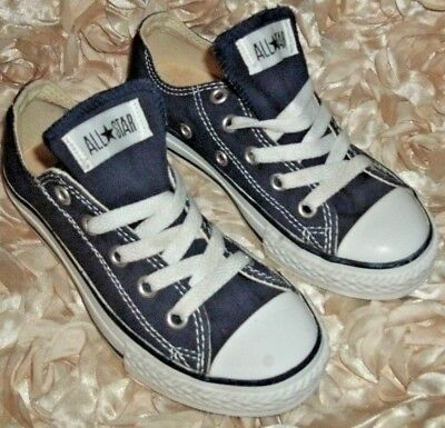 KIDS TODDLER CONVERSE CHUCK TAYLOR ALL STAR LOW 7J237 NAVY Size 12 Classic Color