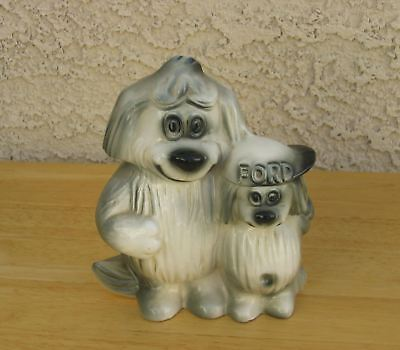 VINTAGE FORD MOTOR COMPANY PROMO SHAGGY DOGS BANKS 1950s  MADE IN USA