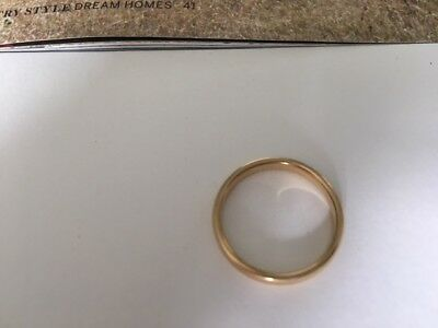18ct gold wedding ring band 3mm