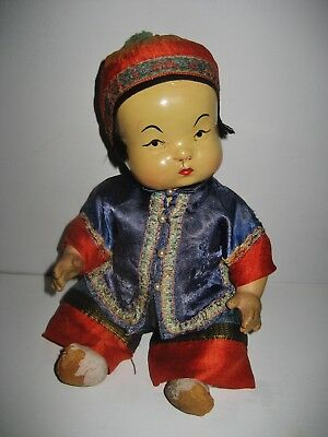 Antique CHINESE COMPOSITION TODDLER DOLL
