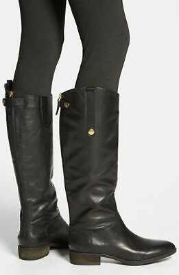e20074502de6 SAM EDELMAN Penny Riding Boots Tall Leather Zip Black Leather Boot 5 7.5 9  10 13