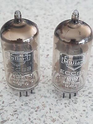 2 X Mullard Ecc83 / 12Ax7, Vintage Valves / Tubes - Tested Good British Made
