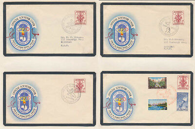 Australia 1956 Melbourne Olympics covers set of 52 diff pictorial pmks Cat $750.